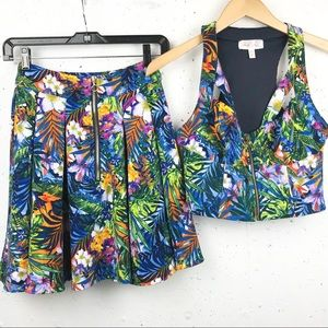 Marilyn Monroe Matching Skirt Set Tropical